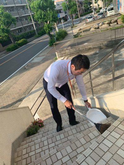 朝の清掃【名古屋名西キャリアセンター】